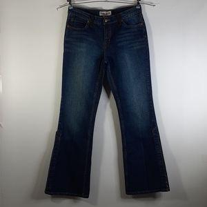 BISOU BISOU Slit Leg Jeweled Flare Jeans  10
